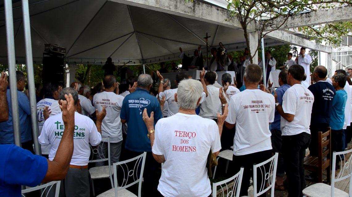 Santuário de Palmas recebe II Romaria Diocesana do Terço dos Homens