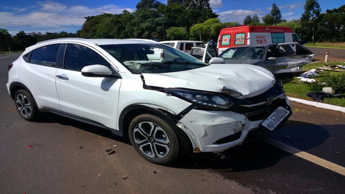 Acidente em Coronel Vivida deixa cinco pessoas feridas