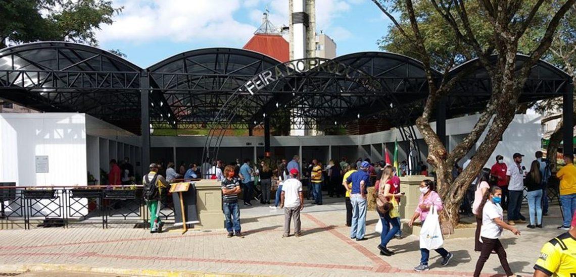Feira do Produtor na Praça da Catedral de Palmas é inaugurada