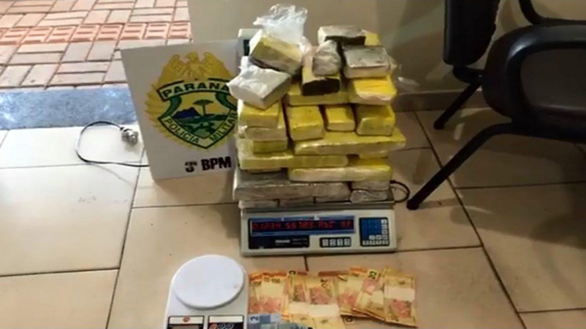 Polícia Militar apreende quase 20 kg de maconha em Pato Branco