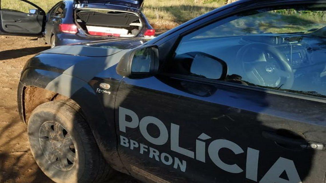BPFRON apreende veículo carregado com bebidas durante Operação Hórus em Santo Antônio do Sudoeste