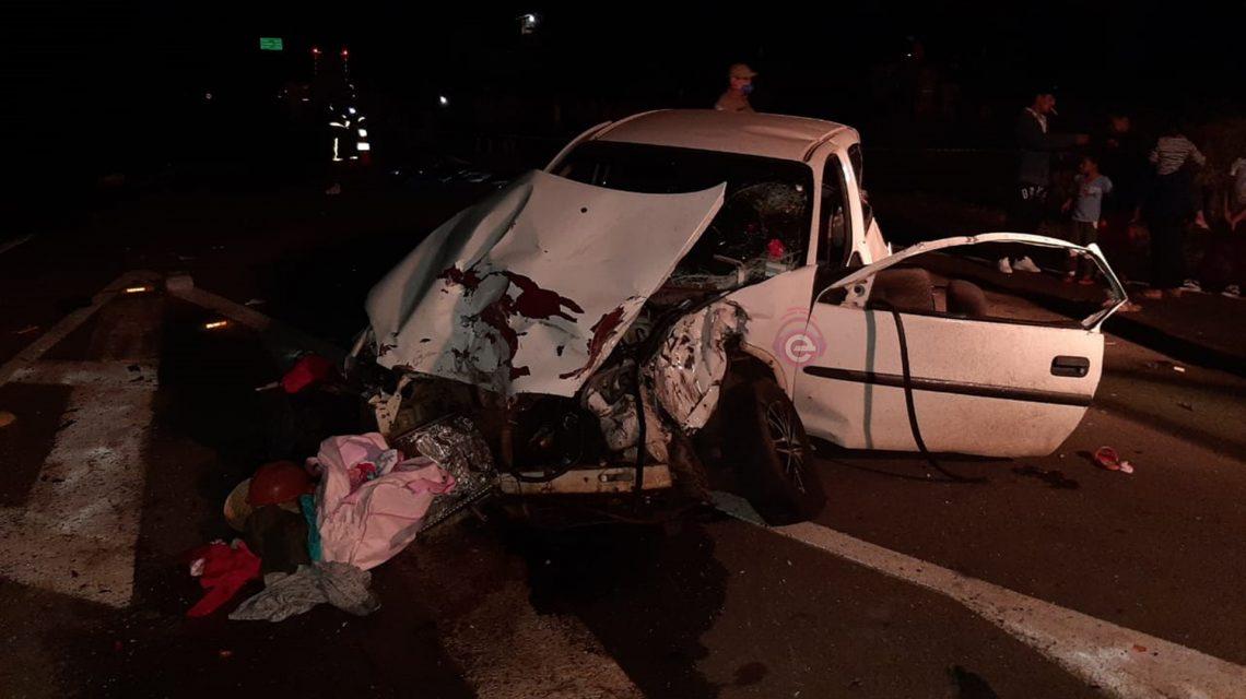 Colisão entre carro e caminhão de Francisco Beltrão deixa duas vítimas fatais na BR-373, em Chopinzinho