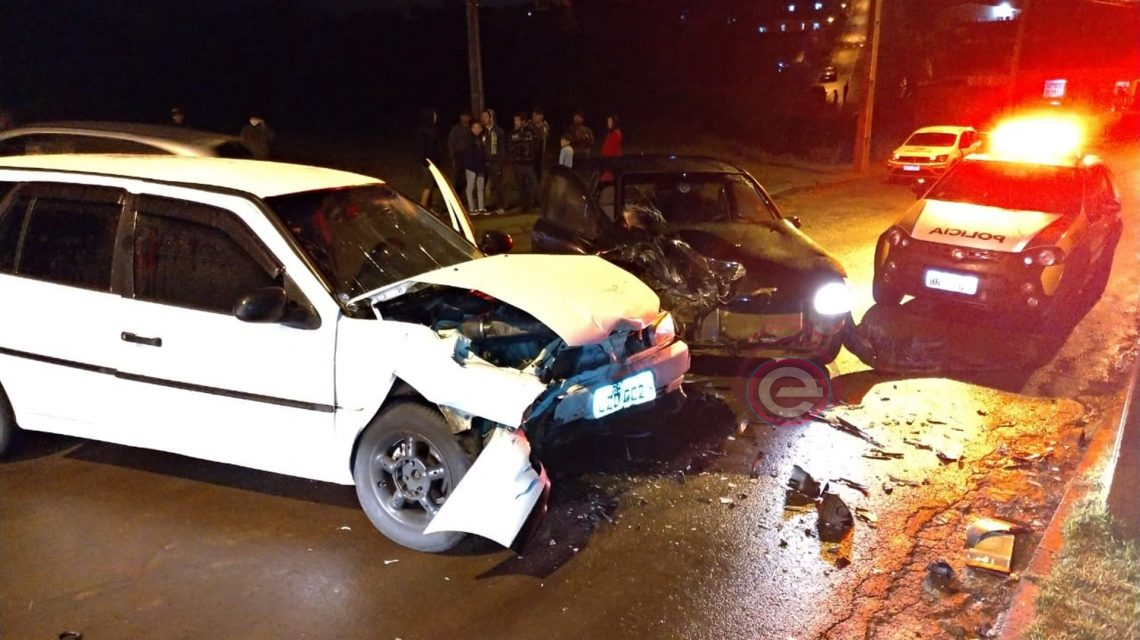 Batida frontal deixa duas pessoas feridas no perímetro urbano de Chopinzinho