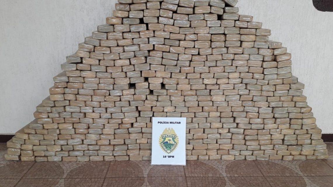 Polícia Militar apreende mais de 300 Kg de maconha em Pinhão