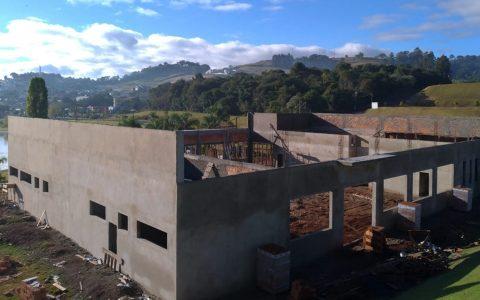 Obras do Centro de Convivência em Bom Sucesso do Sul estão em estágio avançado