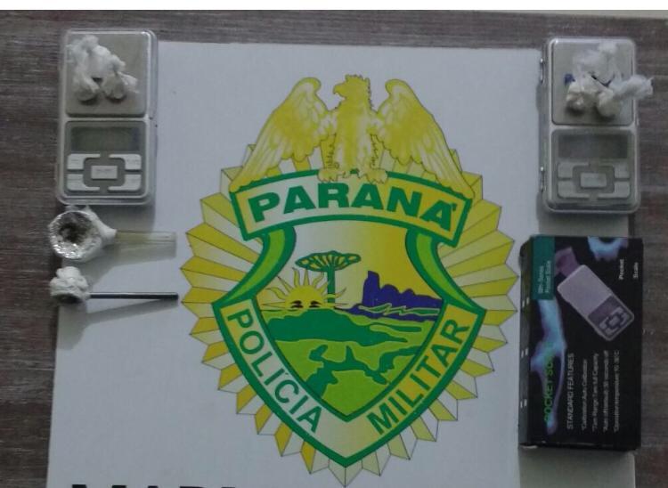 PM de Marmeleiro prende duas pessoas envolvidas com o tráfico de drogas