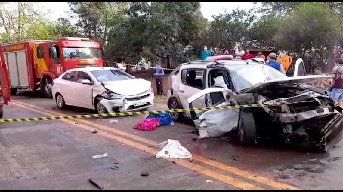 Grave acidente deixa 11 feridos na PR 180 na região de Cascavel