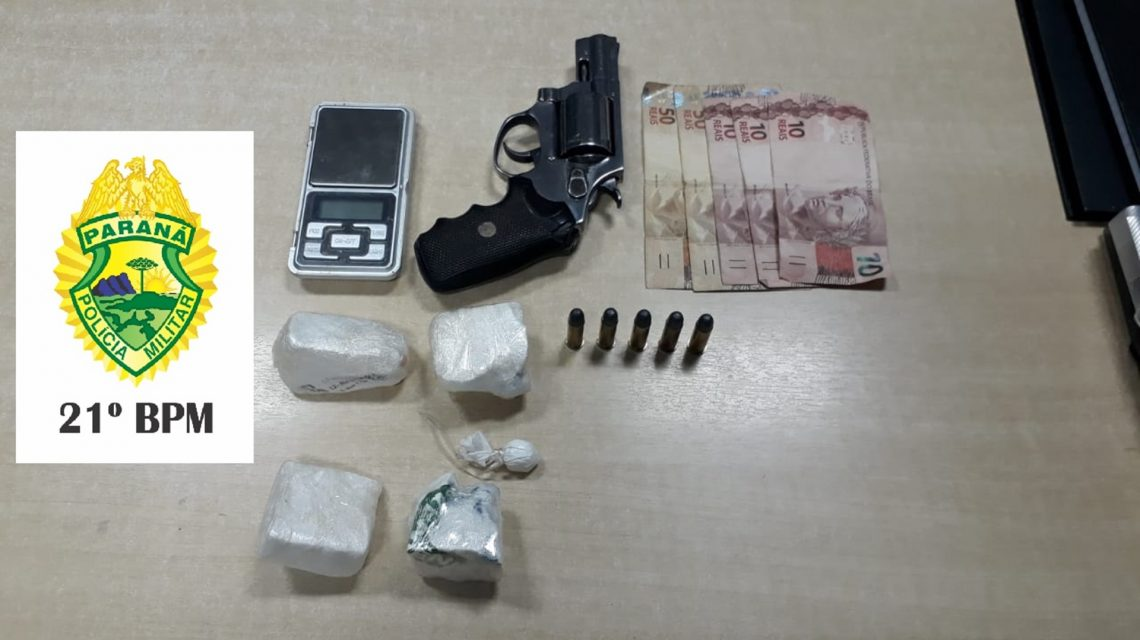 Polícia Militar apreende arma e drogas em Francisco Beltrão