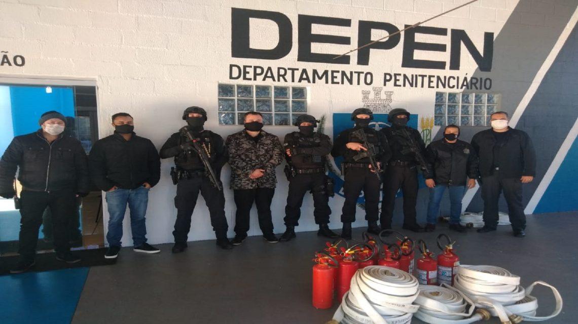 Penitenciária Estadual será a primeira a implementar a brigada de incêndio