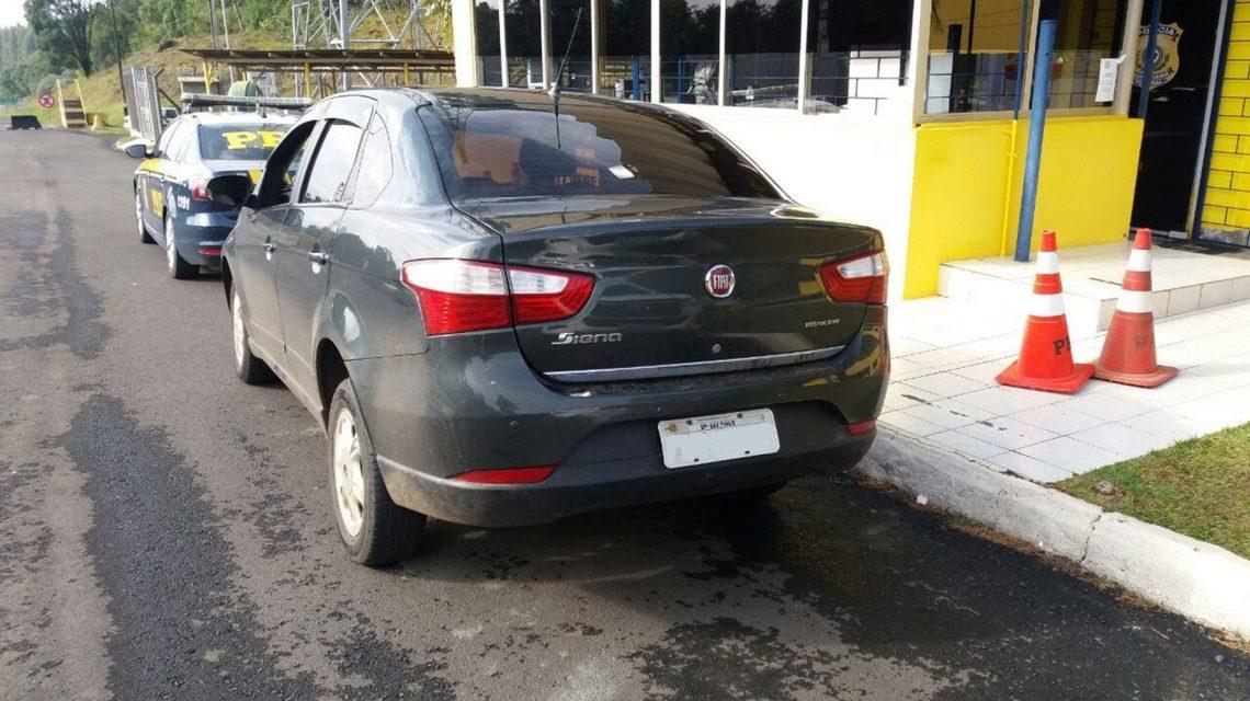 Carro que saiu de Francisco Beltrão carregado com mais de 300 quilos de maconha é apreendido em Irati