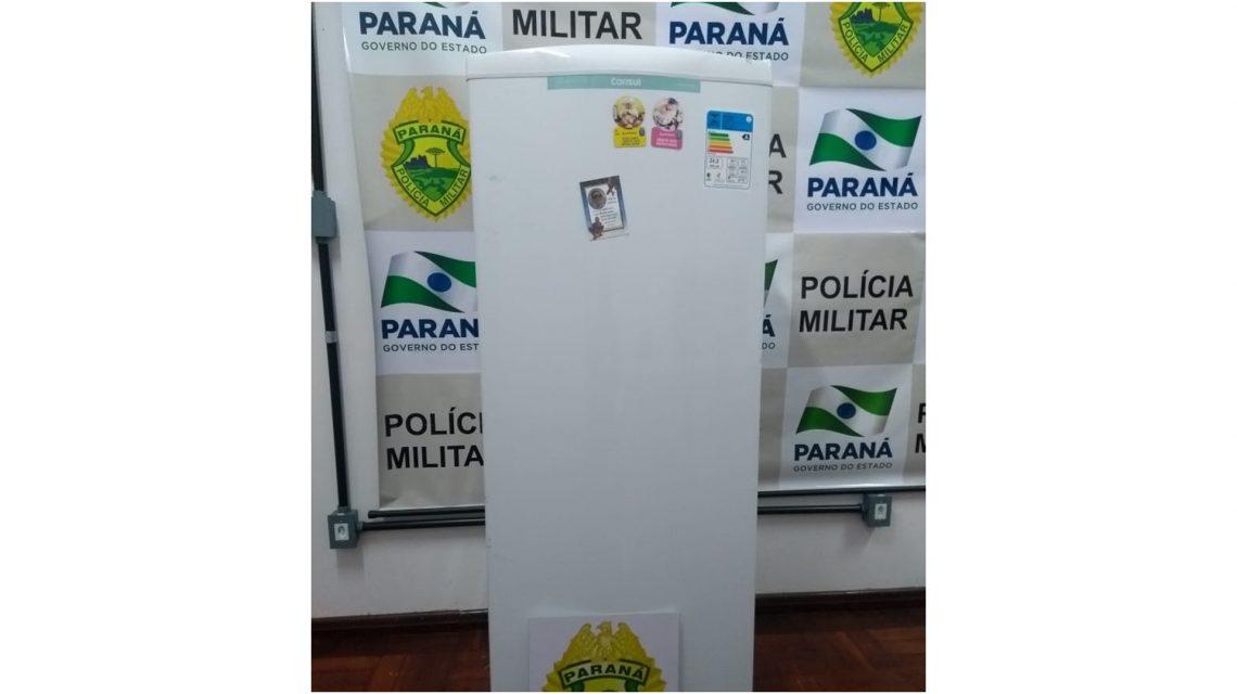 Polícia Militar recupera geladeira furtada em Chopinzinho