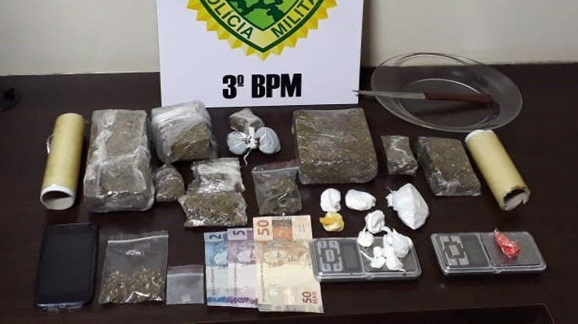 Polícia Militar apreende maconha, cocaína e LSD em Pato Branco