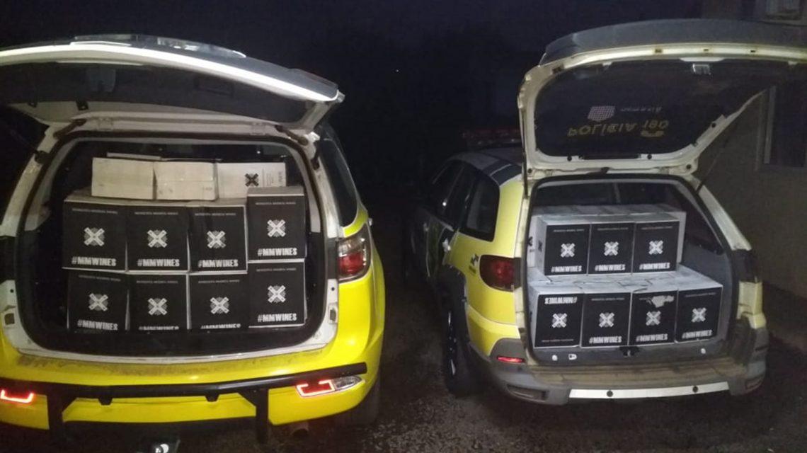 Polícia Militar apreende carga de vinho contrabandeado em Bom Jesus do Sul