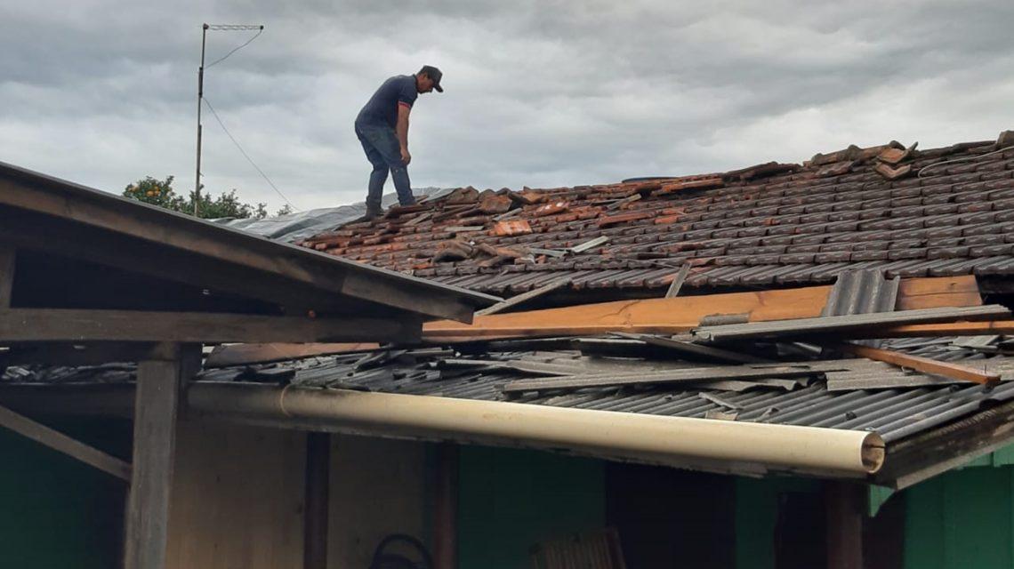 Temporal provoca estragos no Distrito de Lagoa Seca, em Candói