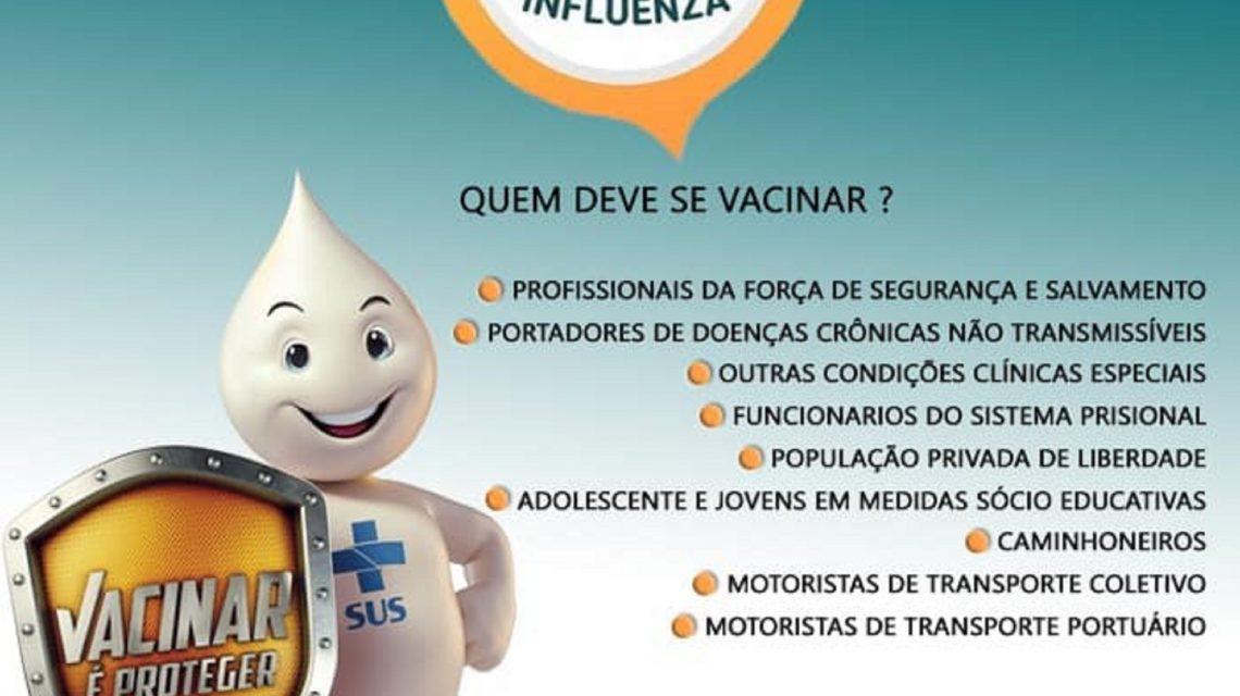 Campanha de Vacinação contra a gripe termina nesta terça-feira (30)
