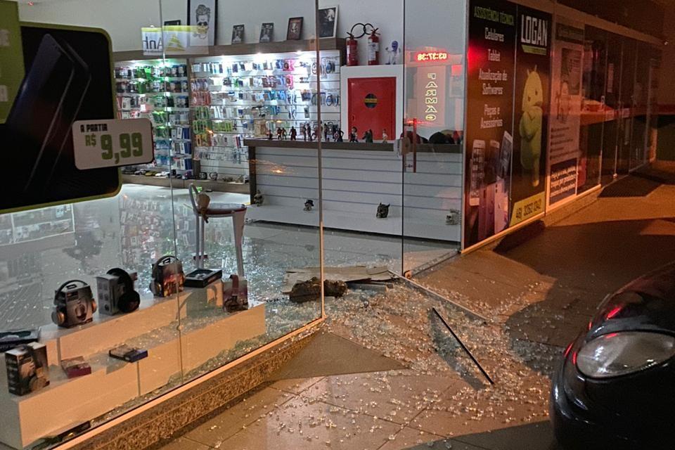 Loja na área central de Palmas é arrombada