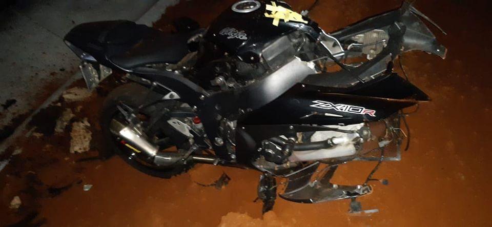 Grave acidente mata condutor de moto na PR-493, em Pato Branco