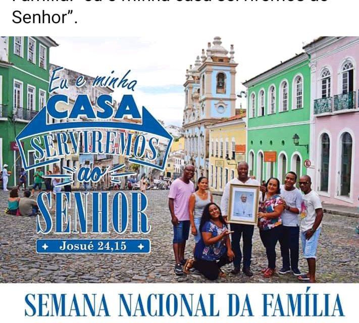 Diocese prepara a Semana Nacional da Família