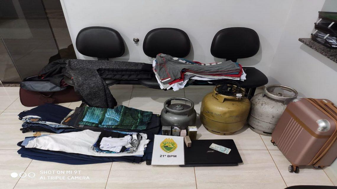 Polícia Militar recupera produtos furtados de loja em Dois Vizinhos