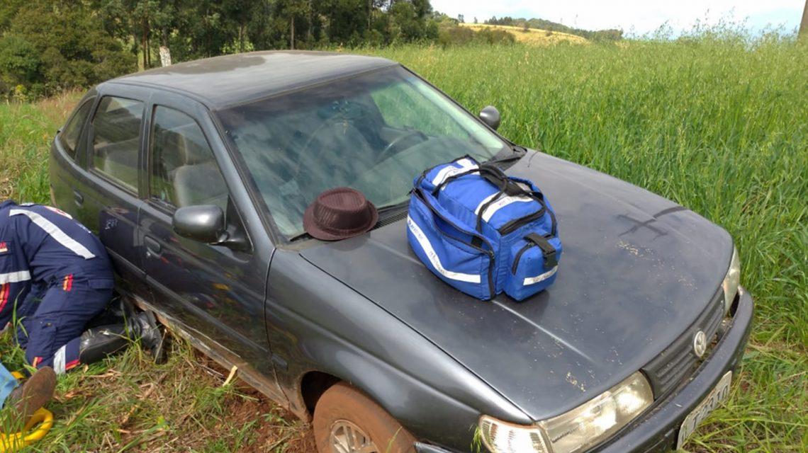 Acidente em estrada rural deixa duas pessoas feridas em Chopinzinho