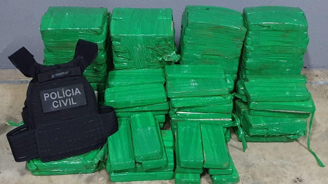 Operação da Polícia Civil resulta na apreensão de 150 Kg de maconha em Laranjeiras do Sul