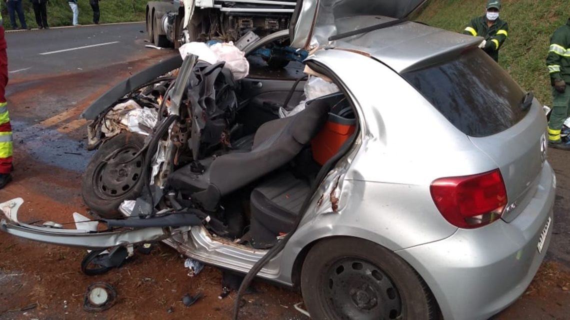 Irmãos morrem vítimas de acidente na BR-277, em Cantagalo