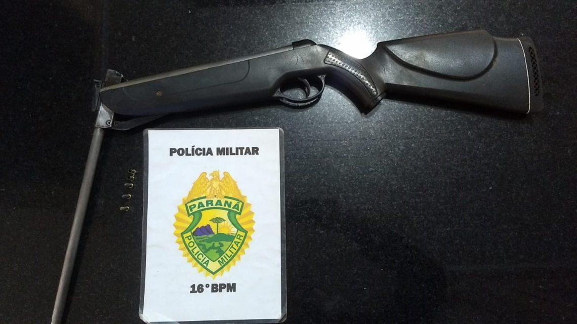 Polícia Militar realiza prisão por porte de arma e cumpre mandado judicial em Candói