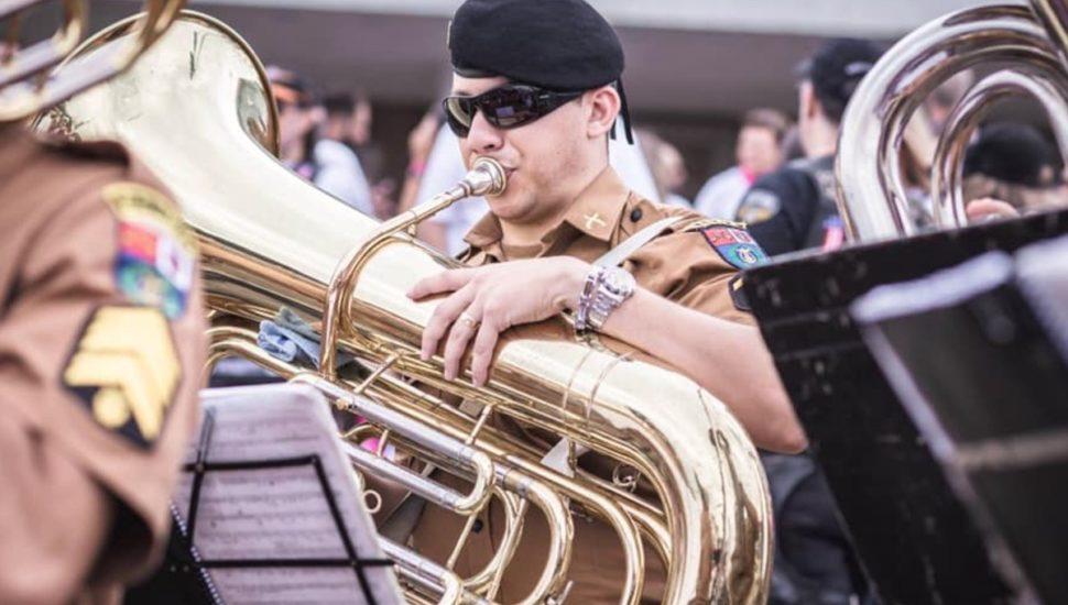 """Banda da PMPR fará """"Caminhada Musical"""" em Francisco Beltrão"""