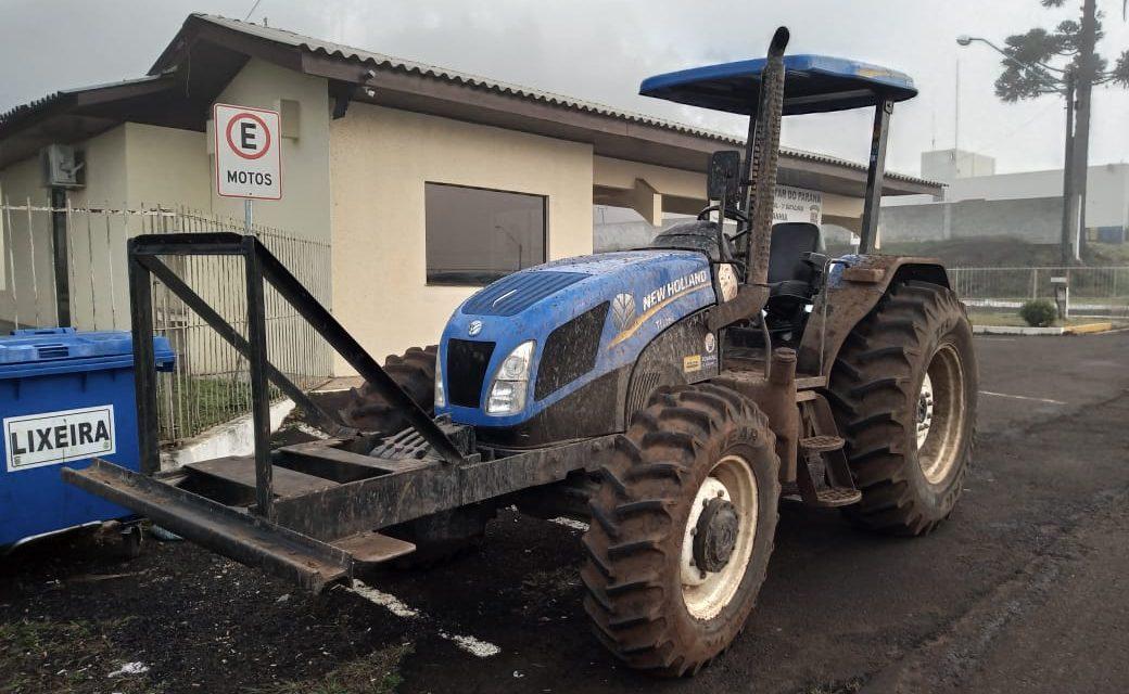 Trator furtado em município Catarinense é recuperado em Palmas