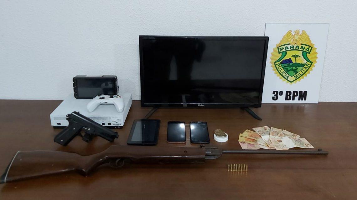 ROTAM de Palmas apreende arma, drogas e objetos furtados