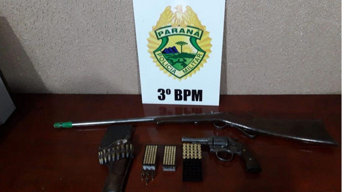 Patrulha Rural apreende armas e efetua prisão em Palmas