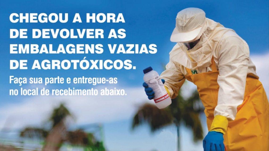Agricultores de Palmas devem devolver embalagens de agroquímicos