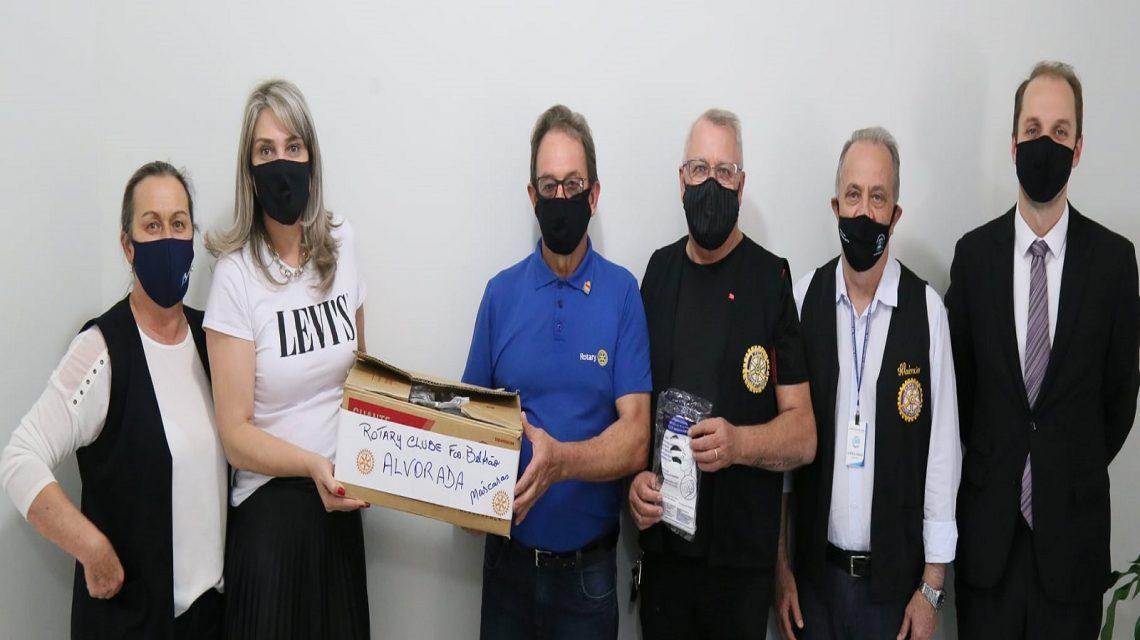 Assistência Social recebe doação de máscaras do Rotary Alvorada