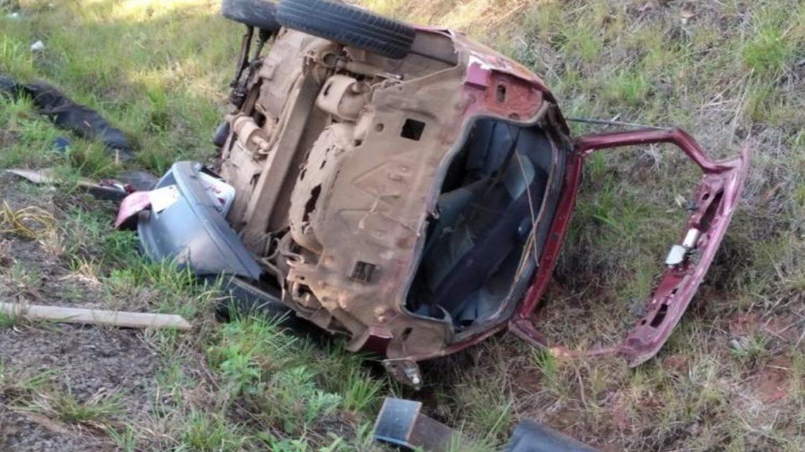 Capotamento deixa um morto na PR-459, em Reserva do Iguaçu