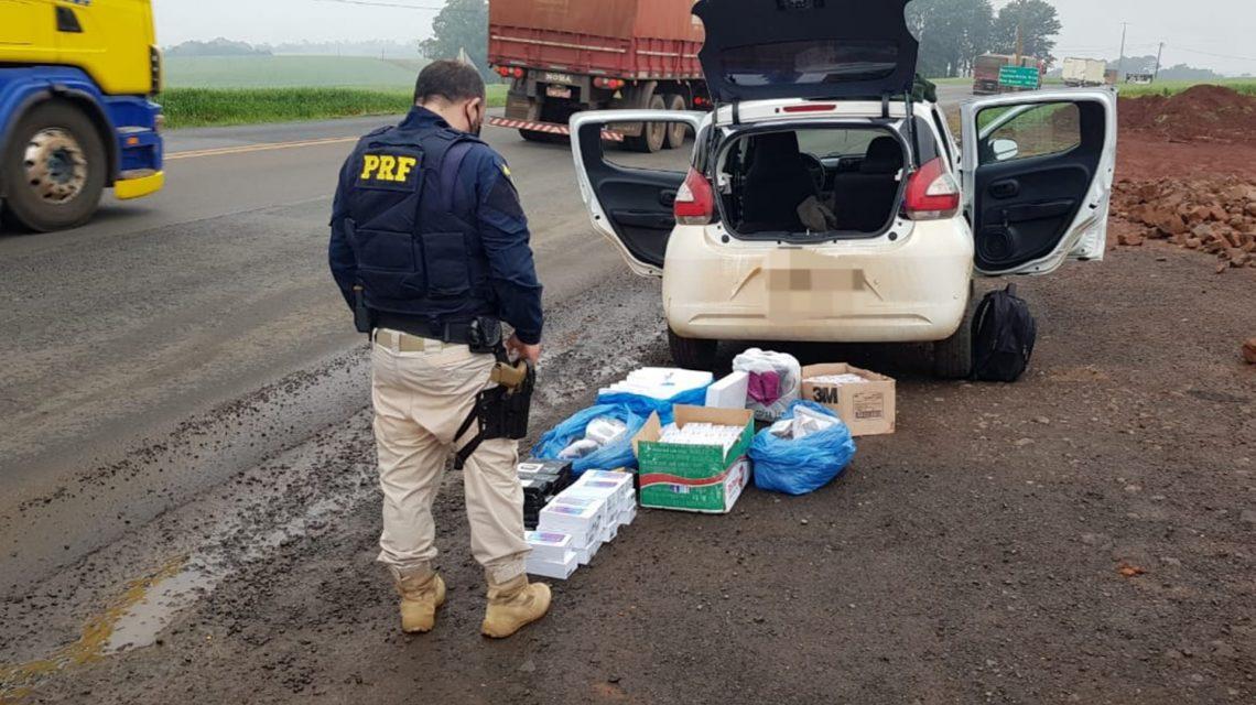 Polícia Rodoviária Federal faz apreensão de mercadorias contrabandeadas em Realeza