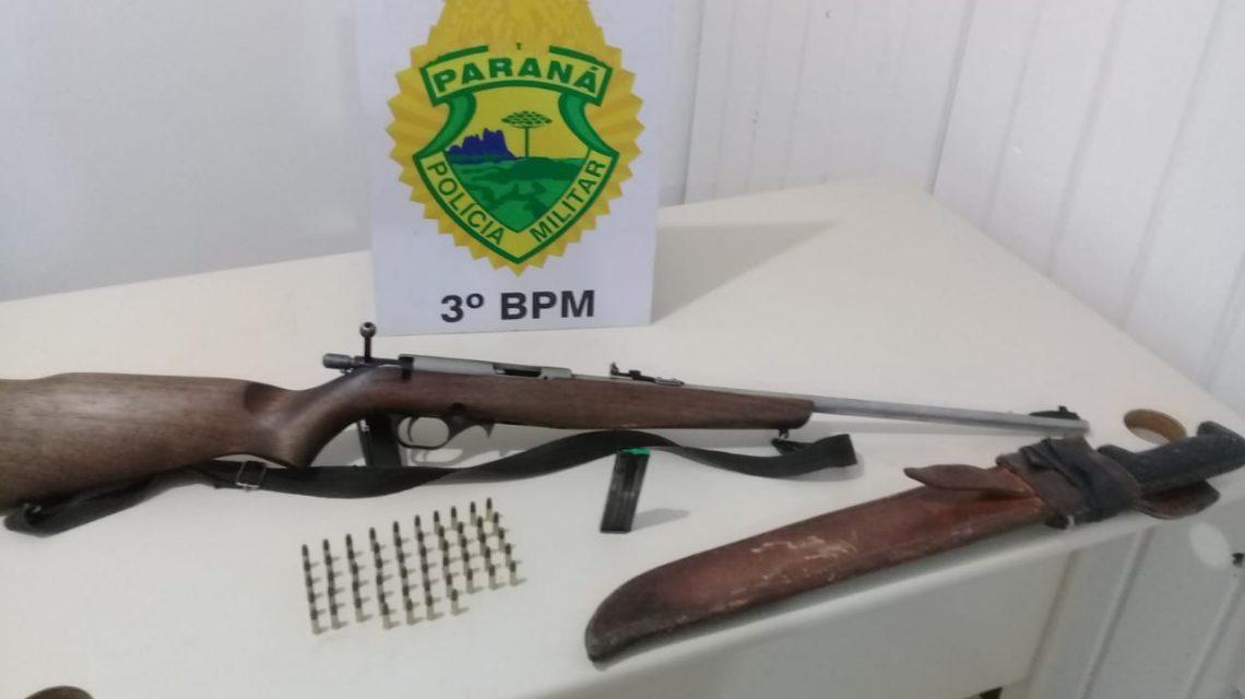 Homem é detido por posse ilegal de arma em Cel. Domingos Soares