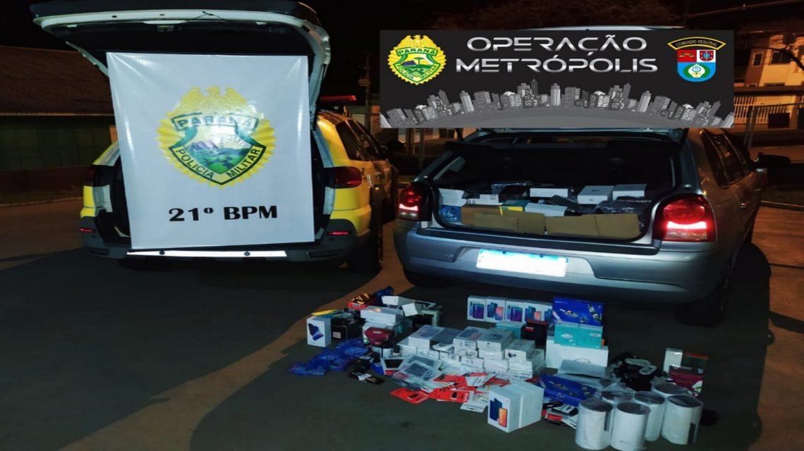 Casal é preso por contrabando e descaminho na PR-280