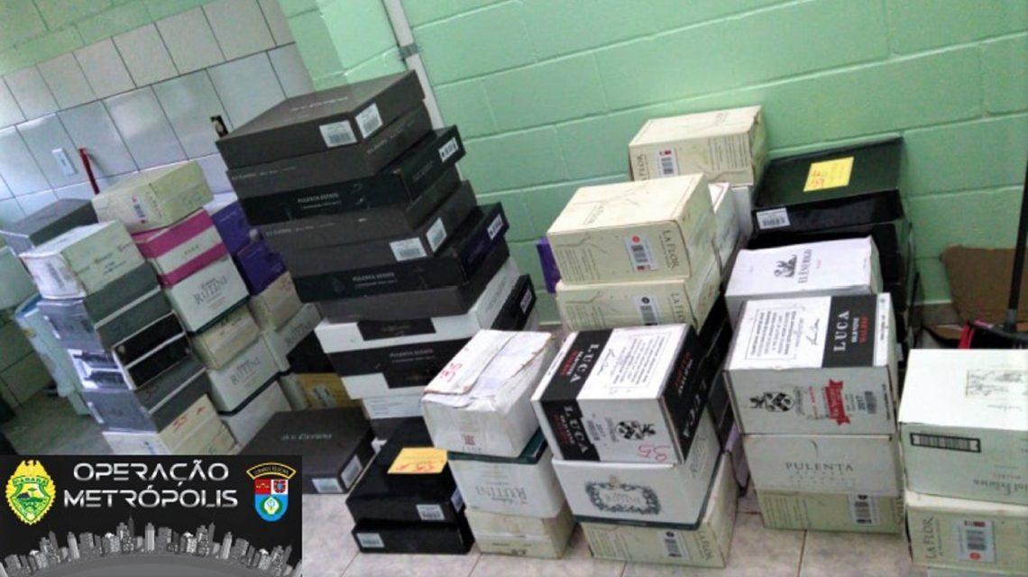 Carga de vinhos estimada em 18 mil reais é apreendida em Francisco Beltrão