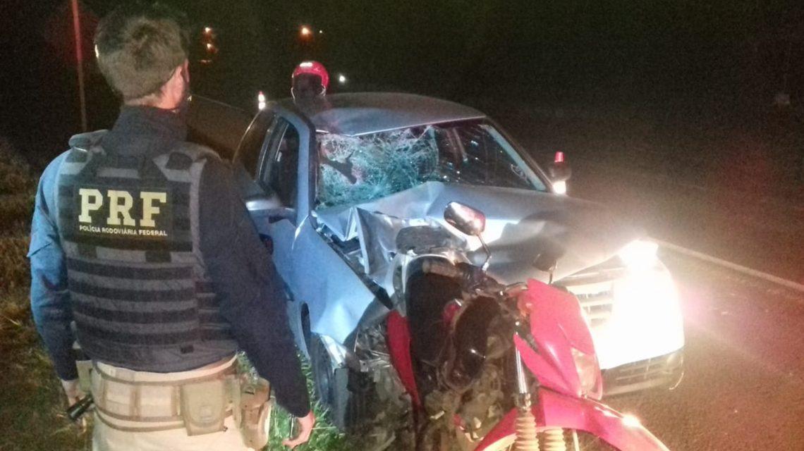Pai e filho ficam gravemente feridos em acidente na BR-373, em Candói