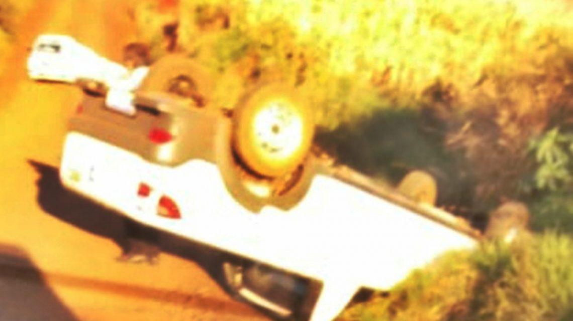 Excesso de velocidade provoca acidente em estrada rural de Candói