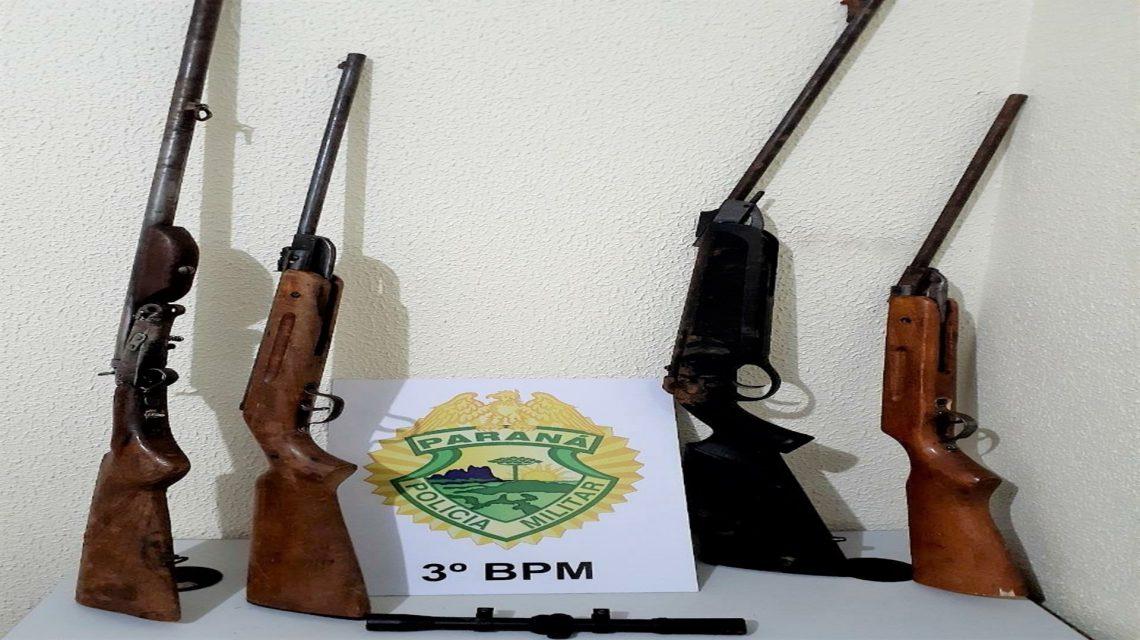 PM apreende armas de fogo e cumpre mandado de prisão no Sudoeste