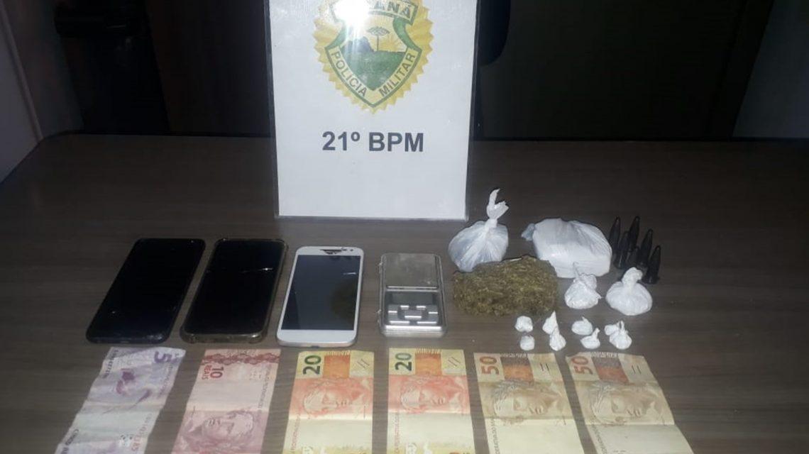 Jovens Chopinzinhenses são flagrados com cocaína em Francisco Beltrão