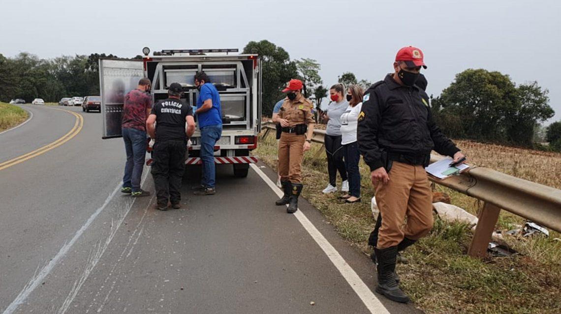 Motociclista tem corpo partido ao meio em acidente na PR-566, em Itapejara D'Oeste