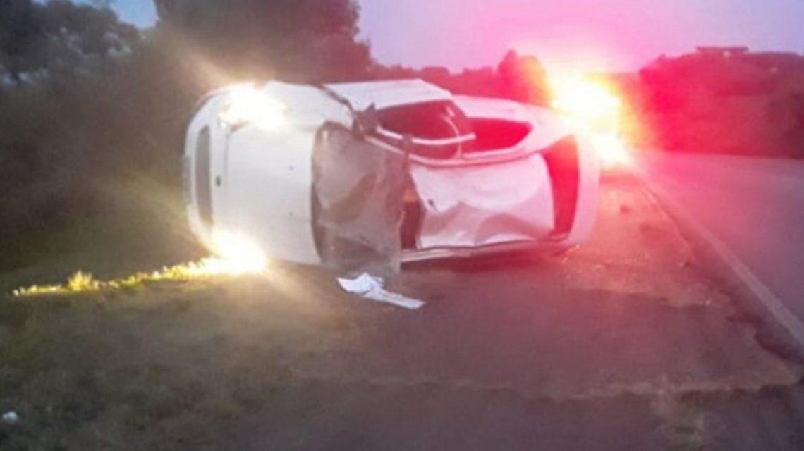 Passageiro de carro morre em capotamento na PR-280 no Sudoeste do Estado