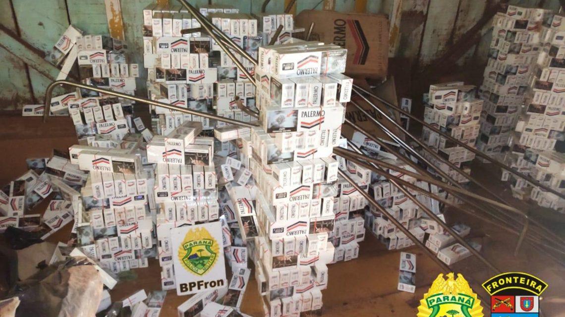 BPFron estoura depósito de cigarro contrabandeado em Laranjeiras do Sul