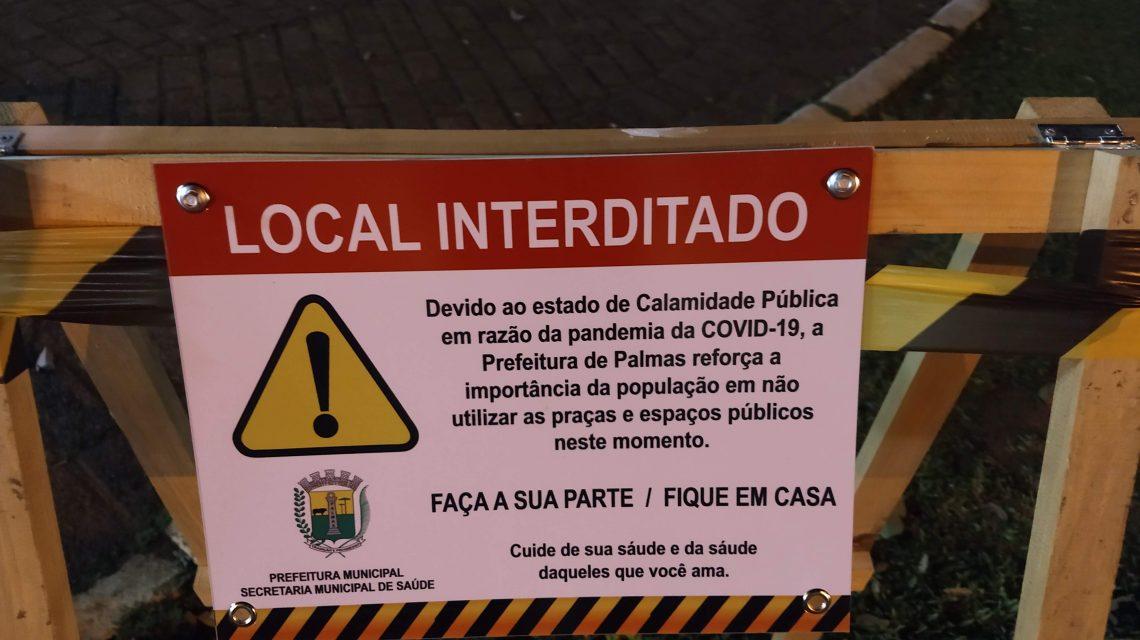 Secretaria de Saúde restringe acesso à praça central de Palmas