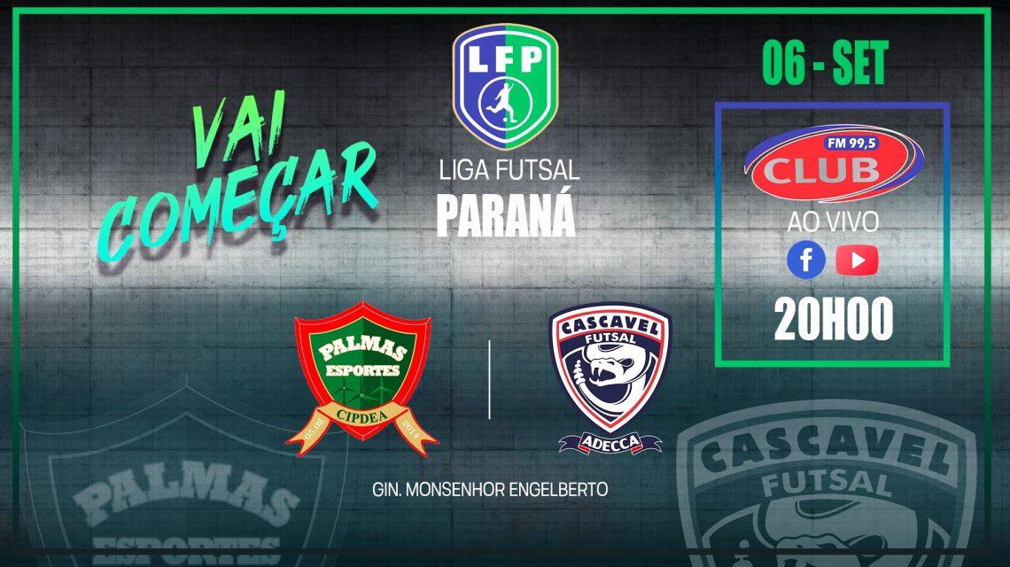 PalmasNet e Cascavel jogam no domingo pela Liga Futsal PR