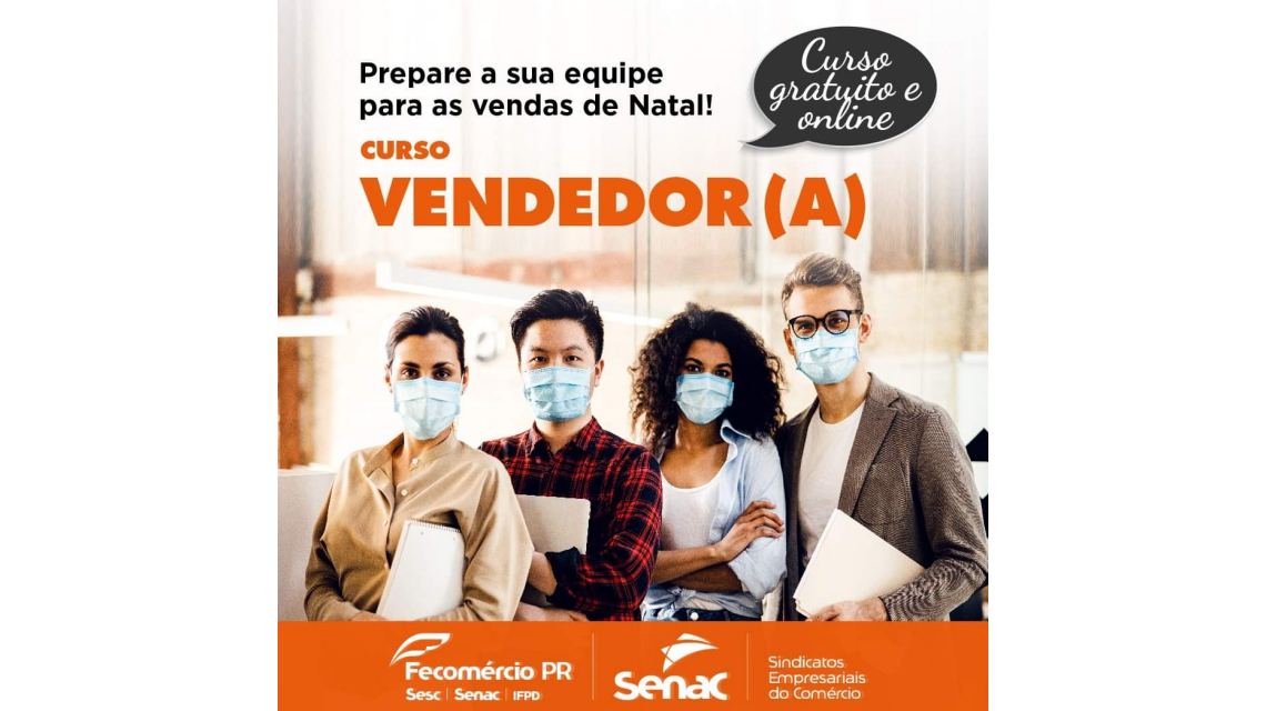 Senac Palmas oferta curso gratuito de vendedor