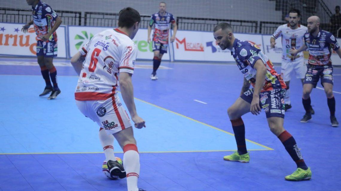 Liga Futsal PR: Jogando em casa, PalmasNet perde para o Cascavel