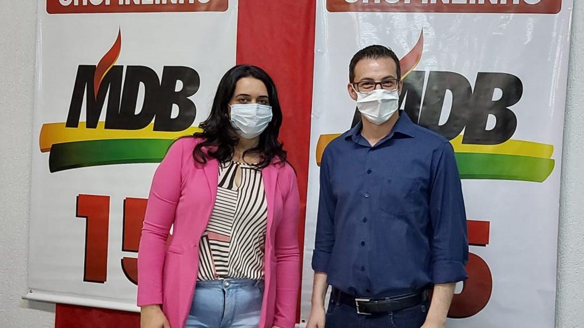 MDB e Republicanos oficializam candidaturas de Álvaro Scolaro e Vilmarize Buffon à prefeito e vice em Chopinzinho